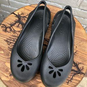 CROCS Rounded Toe Slip On Comfort Shoes sz 11